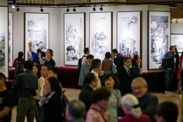 丹青顾惠能大师传奇人生 上海举办刘居时六祖故事画展